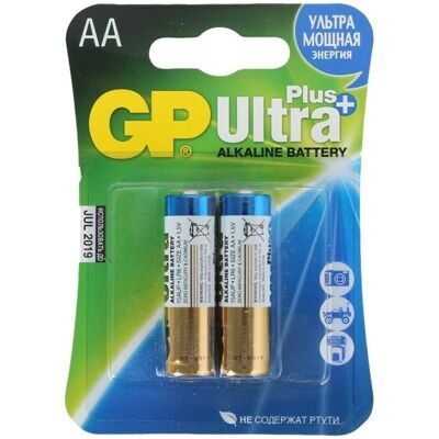 AA Батарейка GP Ultra Plus Alkaline 24AUP LR03, 2шт.