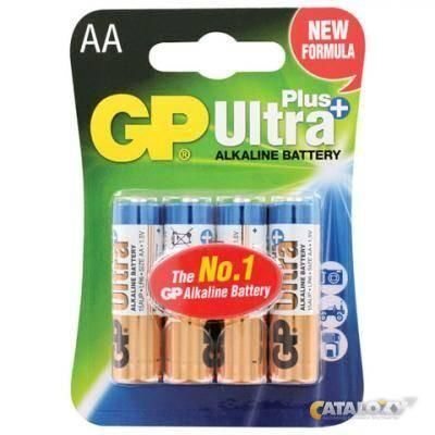 AA Батарейка GP Ultra Plus Alkaline 24AUP LR03, 4шт.